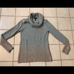 WHBM Cowlneck Ombré Shimmer Sweater Sz XS
